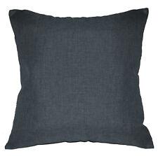 Qh18a Dark Blue Grey Linen Cotton Blend Cushion Cover/Pillow Case Custom Size