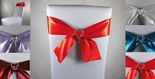 Stuhlschleifen  Schleifenbänder für Stuhlhussen Hochzeit Party Strass schnalle