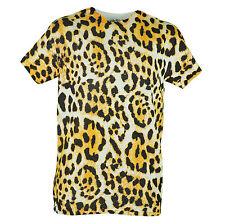 Fifth Sun Jaguar Pattern Design White Men Graphic Plain Tshirt Tee Shirt