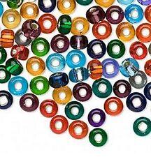 Jablonex Czech Glass Bead Mix 3/0  5mm Silver Lined 100 grams about 580 beads
