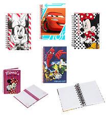 Disney Marvel congelados Spiderman Cars Minnie Mouse Espiral A5 Cuaderno diario de Pad