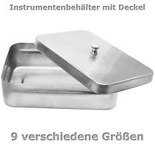 Instrumenten-Behälter, Aufbewahrungsbox, Wanne, Schale mit Deckel & Knopf