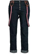 B13090476 Eight 2 Nine Donna Pantaloni Jeans bw0159 con Spalline Pantaloni Blu