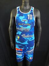 FOOTEX Completo Canotta e Pantaloncino Beach Volley Camouflage  Azzurro/Celeste
