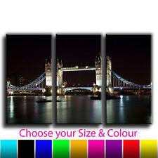 London Bridge, Landscape Treble Canvas Wall Art Picture Print 7