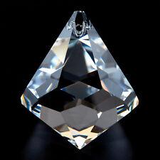 Kristall Schiefstein 52x18mm Crystal Feng Shui Eyecatcher Schmuckstein klar