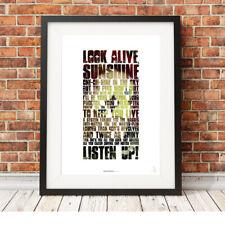 MY CHEMICAL ROMANCE ❤ Gerard Way ❤ MCR lyrics poster art prints Na Na Na #16