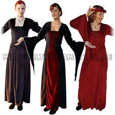 Samtkleid Mittelalterkleid Burgfräulein Mittelalter Samt Kleid Gewandung XS-XXXL