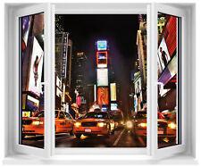 Sticker fenêtre trompe l'oeil New York Taxi réf 707