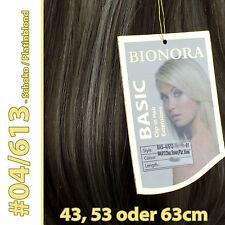 Clip-in Extensions mit Echthaar #04/613 Braun/Blond 40 50 60+cm Haarverlängerung