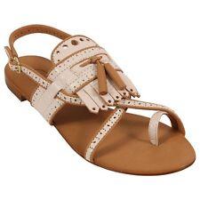 Ash Footwear Micka Sling Back Leather Sandal, White & Nude