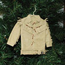 Cowboy, Western Leather Fringe Coat Christmas Ornament