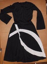 NWOT PRAISE DRESS LITURGICAL DANCE Fish Detail Full  skirt Black 71147 Small ad
