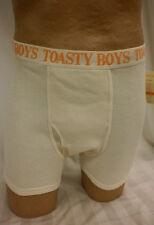Toasty Boys Organic Waffle Thermal Boxer Brief Natural Small NWT #1396A