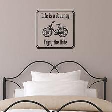 La vita è un viaggio, divertiti sulla giostra Preventivo Adesivo Muro-bici Vintage Decalcomania Muro
