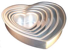 Fat Daddios Anodized Aluminum Heart Cake Pan 3-Inch Deep