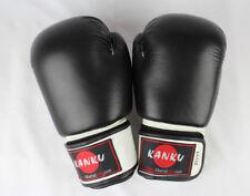 Kanku Boxing Gloves Black 12, 14, 16 Oz  Cow Lather for Training Sparring Bag