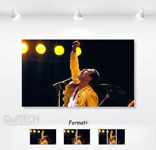 Freddie Mercury - 5 - Quadro stampa su Tela Pelle Canvas Dipinto Arte Moderna