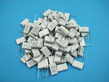 (100) EVOX MMK Radial Metallized Polyester Film Capacitors: 0.33uF 10% 100V