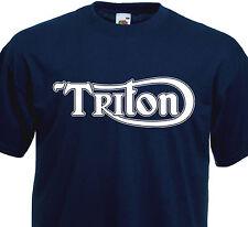 T-shirt TRITON - Triumph Norton Motorcycle Vintage Custom  Cafe Racer  Motard