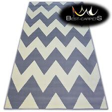 "MODERN DESIGNS & CHEAP BCF RUGS grey ZIGZAG ""BASE""  4 SIZE Best-Carpets"