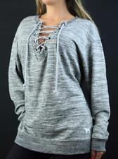 New ListingVictoria s Secret PINK Lace Up Crew Fleece Marled Sweatshirt 29a5e4f7d