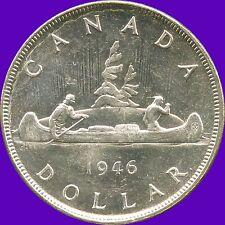 1946 Canada Silver Dollar Coin ( 23.33 Grams, .800 Silver )