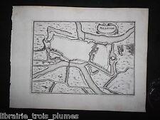 ✒ MESZIERE MEZIERES gravure XVII° 1636 Nicolas TASSIN Ardennes