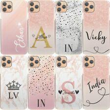Pink Initialen Handyhülle, Personalisiert Rosa/Grau Marmor Hartschale Samsung