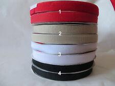 1m; 5m Klettband, Klettverschluss Komplet  , 25mm,  zum Aufnähen