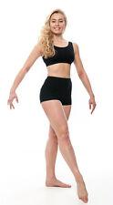 Ladies Black Cotton Dance Sports Gymnastics Hot Pants Shorts KHPC-5 By Katz