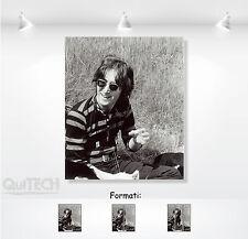 John Lennon - 9 - Quadro stampa su Tela Pelle Canvas Dipinto Arte Moderna