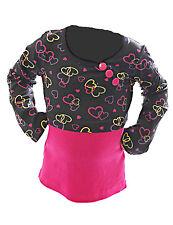 enfants filles shirt à manches longues pull tunique Cœur Motif avec boutons