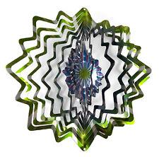 WorldaWhirl Whirligig 3D Star Wind Spinner Stainless Kinetic Twister Green Teal