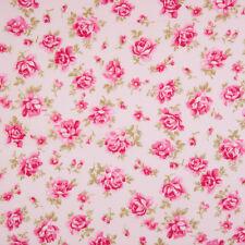 100% Tessuto Di Cotone-Rosa Scuro Vintage Floreale-Rose & Hubble-Cut dal ROLL