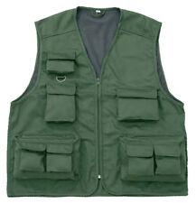 Behr Anglerweste Outdoorweste in grün mit 11 Taschen / Gr. M-XXXL