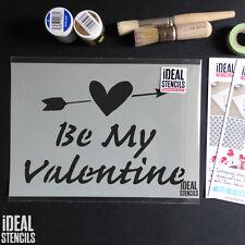 Día de San Valentín Decoración escaparate pantalla plantilla pintar cualquier superficie Reutilizable