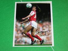 Arsenal Charlie Nicholas Firmado 1987 Original De Prensa De Fotografía