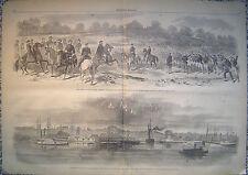 Army of the Potomac-General M'Clellan James River Virginia Original 1862