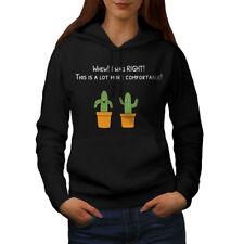 Wellcoda Funny Cactus Womens Hoodie, Sarcastic Casual Hooded Sweatshirt