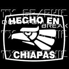 Hecho en Chiapas Estado de Mexico  Aztec Aguila Decal Vinyl Sticker