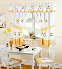 Sunflower Kitchen Curtains, 5 Sizes Free Tie-backs ,Pelmet avaliable