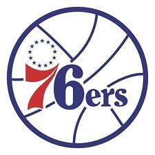 Philadelphia 76ers Main logo Vinyl Decal / Sticker 5 Sizes!!