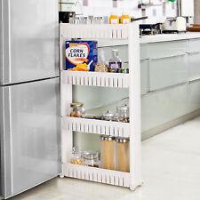 Carrellino portaoggetti con rotelle 3 o 4 ripiani per cucina comodo e versatile
