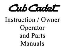 Cub Cadet International 71, Series 1000, 2000 Series operator and parts manual