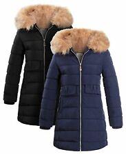 Girls Fleece Lined Parka Coat Age 4 5 7 8 9 10 11 12 13 14 Years Jacket Faux Fur