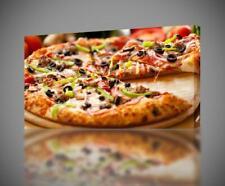 Pizza Italian Food CANVAS PRINT Wall Decor Giclee Art Poster CA499