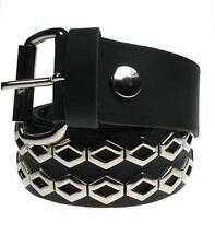 Cinturon cuero con tachuela hexagonal gap rock punk leather belt Bullet69