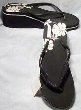 Bridal/Wedding Black & White Wedge Flip Flop Sandals  6-10