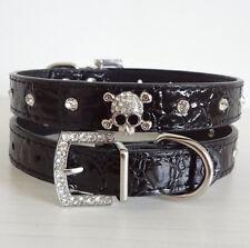 Pet Collars Rhinestone/Diamante Collar Crystal Skulls Dog Cat Puppy Collar